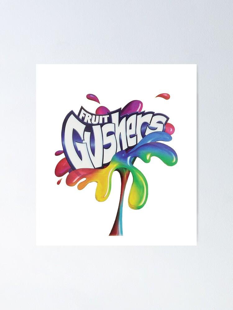 Alternate view of Fruit Gushers 90s logo Poster