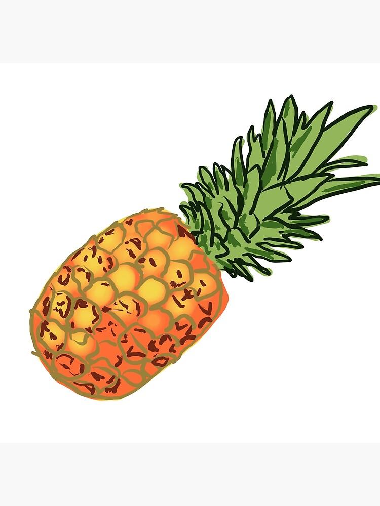 Ananas Fruits Exotiques Couleur Dessin Peinture Numérique Tote Bag