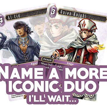 Final Fantasy TCG - Al-Cid Onion Knight Iconic Duo by jyeotoole