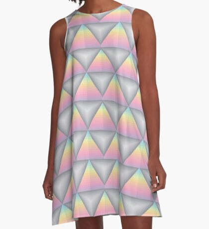 Triangle Pyramid Colourful Geometric Pattern A-Line Dress