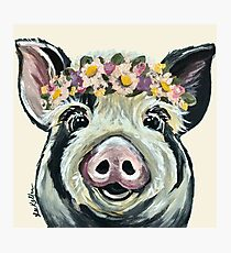 Cute Pig Art Photographic Print