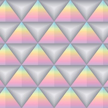 Triangle Pyramid Colourful Geometric Pattern by thespottydogg