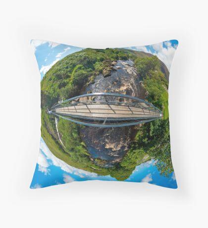 Footbridge over Glen River, Carrick, SW Donegal Throw Pillow