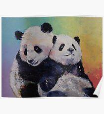 Panda Umarmungen Poster