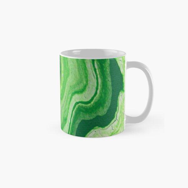 Green Geode Acrylic Pour Classic Mug