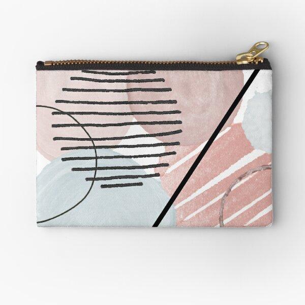 Pink blue abstract circle design Zipper Pouch