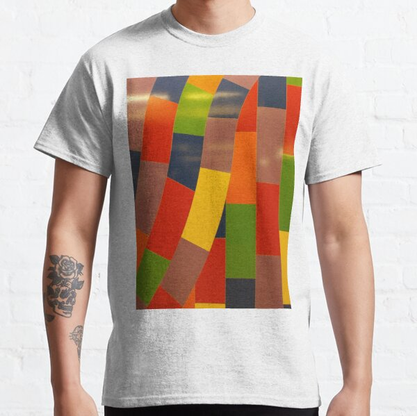 Orange, New York, Manhattan, Brooklyn, New York City, architecture, street, building, tree, car, pedestrians, day, night, nightlight, house, condominium,  Classic T-Shirt