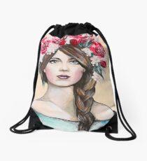Crown of Roses Drawstring Bag