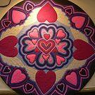 My Art 1 - Hearts Sand Mandala  by Tanya Newman