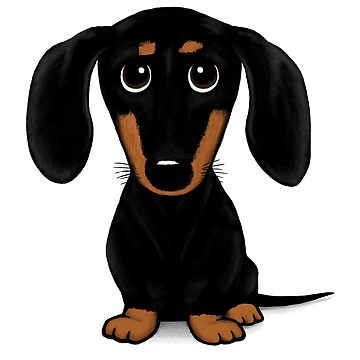 Cute Black and Tan Smooth Dachshund by ShortCoffee