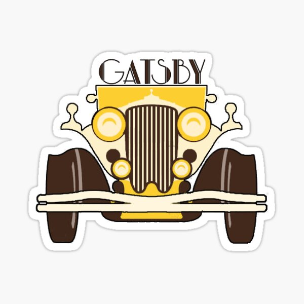 The Great Gatsby Yellow Car Sticker