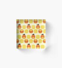 Dotty Pineapples II Acrylic Block