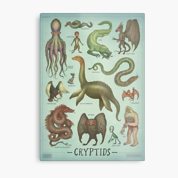 Cryptids - Cryptozoology species Metal Print