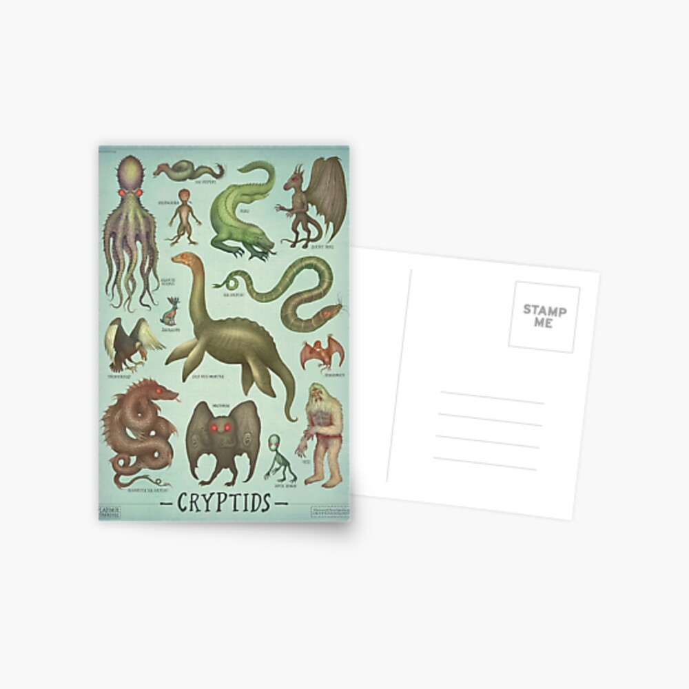 Cryptids - Cryptozoology species Postcard