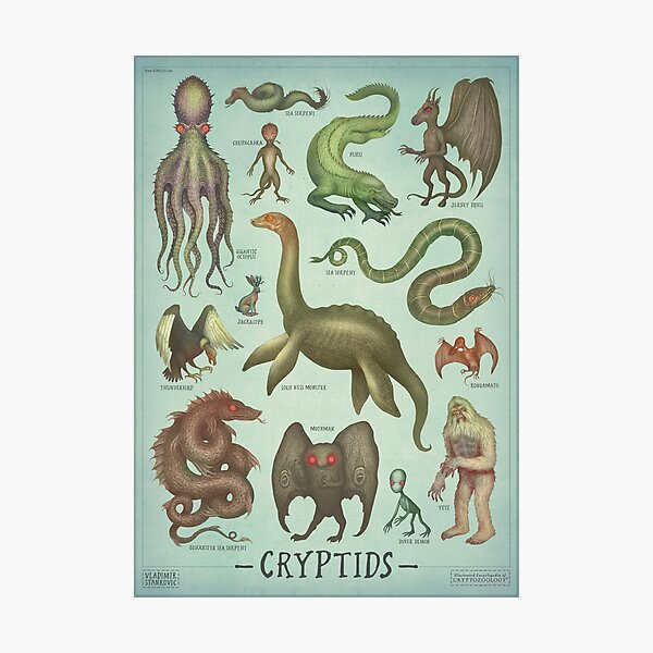 Cryptids - Cryptozoology species Photographic Print
