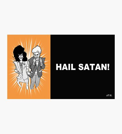 MR. SHOW: HAIL SATAN CHICK TRACT Photographic Print