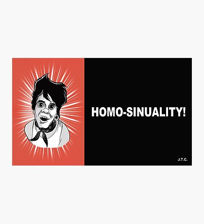 MR. SHOW: HOMO-SINUALITY CHICK TRACT Photographic Print