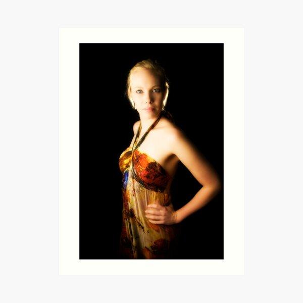 Brooke. With soft glow. Art Print