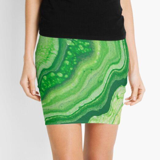 Green Geode Acrylic Pour Mini Skirt