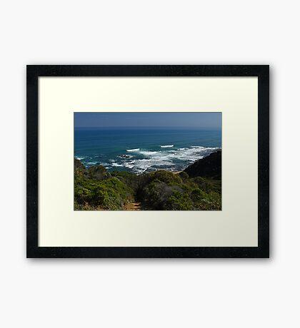 Seascape of Southern Ocean Framed Print