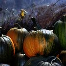 Four Pumpkins by Wayne King