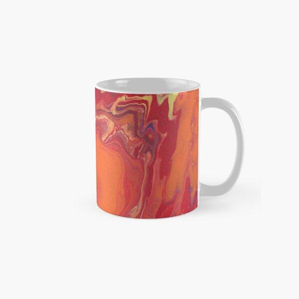 Sunset Geode Acrylic Painting Classic Mug