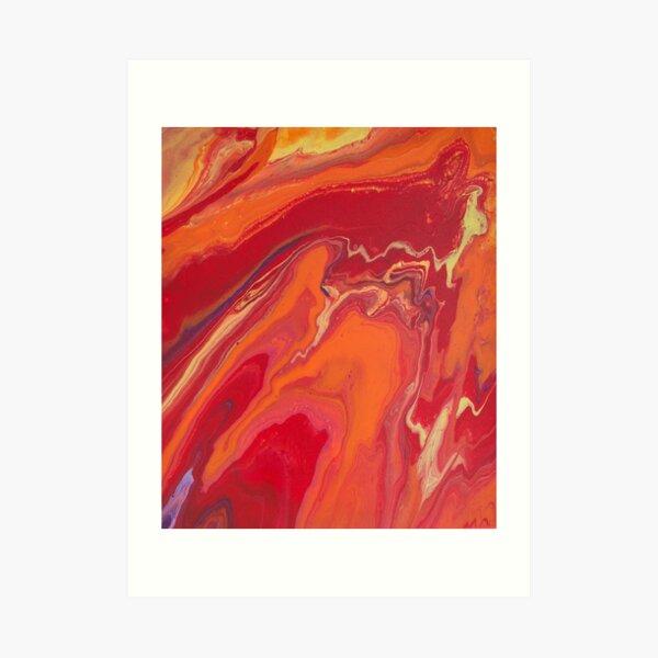 Sunset Geode Acrylic Painting Art Print