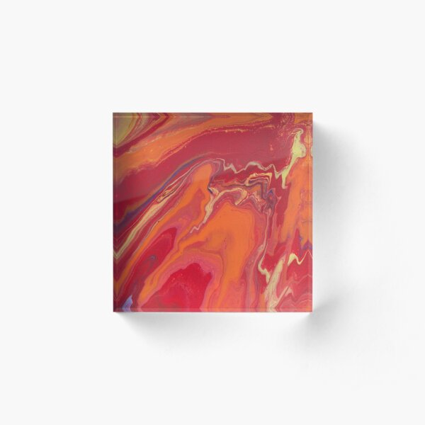 Sunset Geode Acrylic Painting Acrylic Block