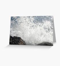 Destruction Wave Greeting Card