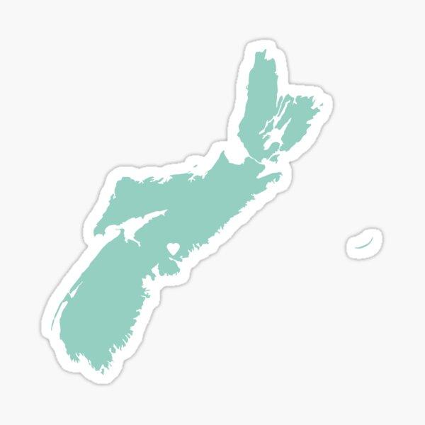 Nova Scotia Love in Mint Sticker