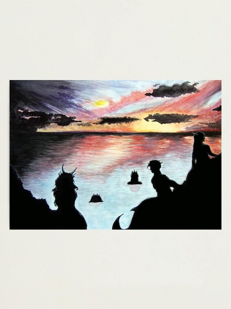 Alternate view of Mermaids at Sunset Photographic Print