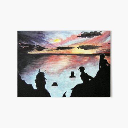 Mermaids at Sunset Art Board Print