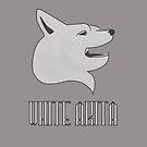 White Akita by Dave Jo