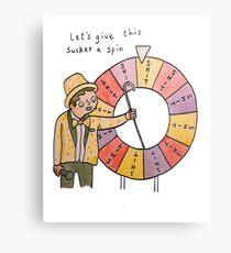 Spin the wheel! - T Shirt Metal Print