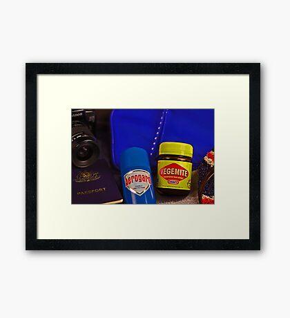 Aussie Travel Essentials  Framed Print