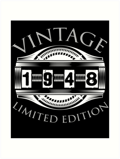 1948 70 Years Old Vintage 70th Birthday Gift By Plistshirts