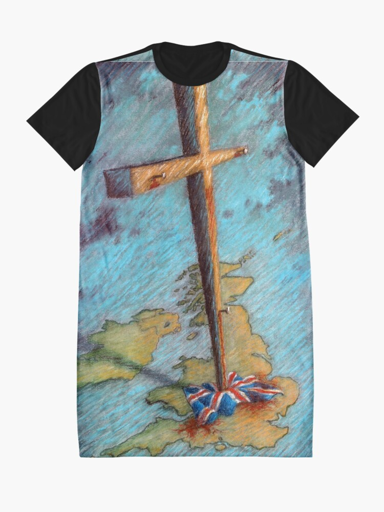 Alternate view of The Cross and the Union Jack Graphic T-Shirt Dress