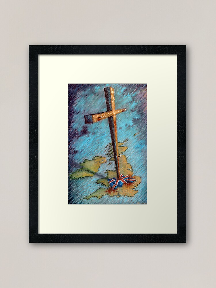 Alternate view of The Cross and the Union Jack Framed Art Print