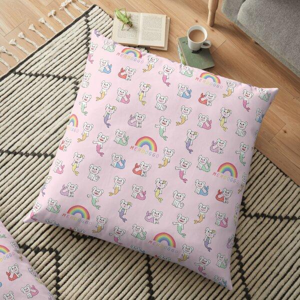 Color Tails Merdoggo Pattern Floor Pillow