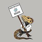 March for Science Adelaide – Beardie, full color by sciencemarchau