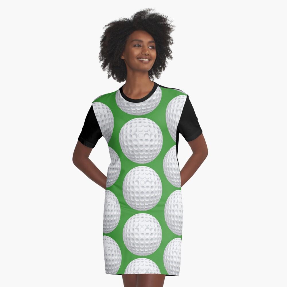 Golf Ball Graphic T-Shirt Dress