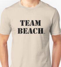TEAM BEACH Basic Tees, Tanks, & Hoodies (Black Text) Unisex T-Shirt