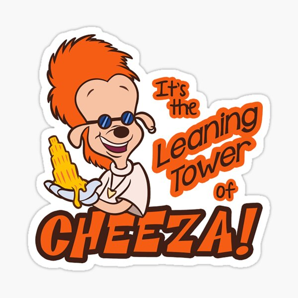 Leaning Tower of Cheeza A Goofy Movie Sticker