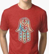 Opalisiertes Hamsa Vintage T-Shirt