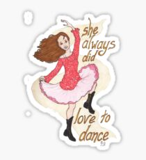 River, Dancing Sticker