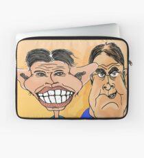 Tony Blair and John Prescott Caricatures  Laptop Sleeve
