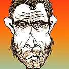 Clint Eastwood Cartoon Caricature by Grant Wilson