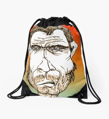 Clint Eastwood Cartoon Caricature Drawstring Bag