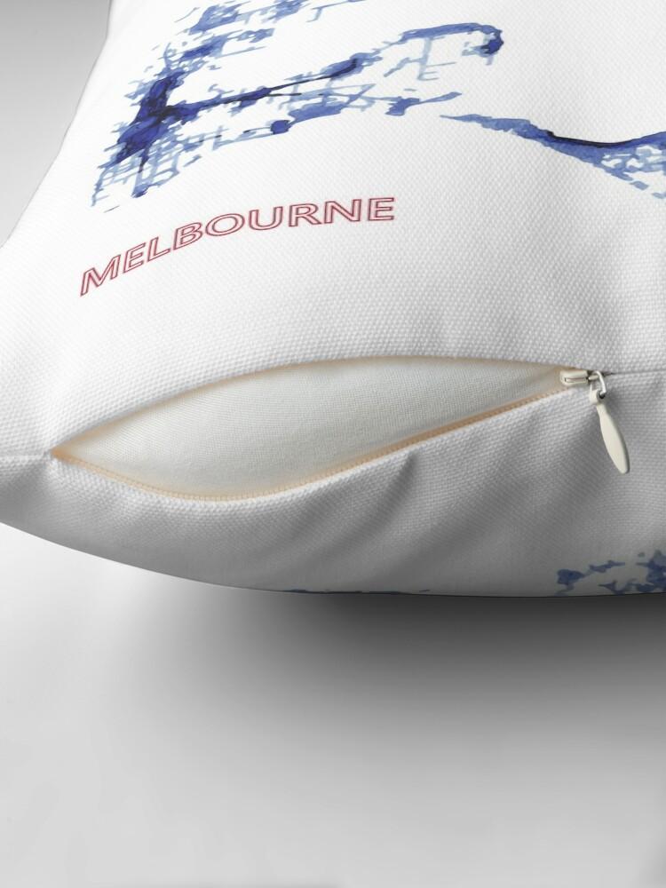Alternate view of Urban Splash - Melbourne Throw Pillow