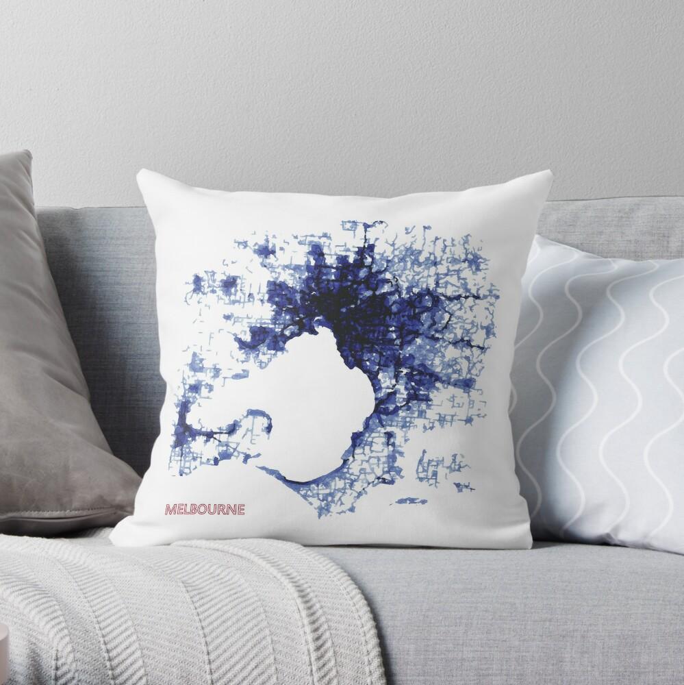 Urban Splash - Melbourne Throw Pillow